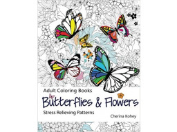 Imagen Adult coloring book: Butterflies and flowers